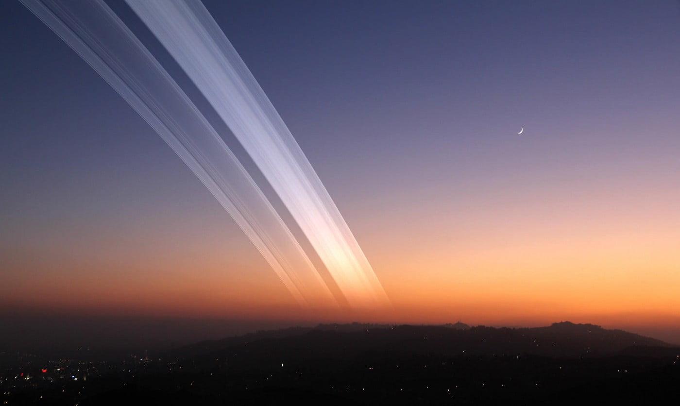 Dünyanın yörüngesinde nasıl Satürn'e benzer halkalar oluşturabiliriz ?